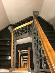 Vista desde el piso 8 de las escaleras.